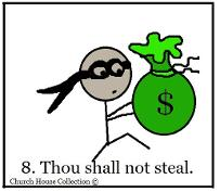 Thou Shalt Not Steal Sunday School Lesson