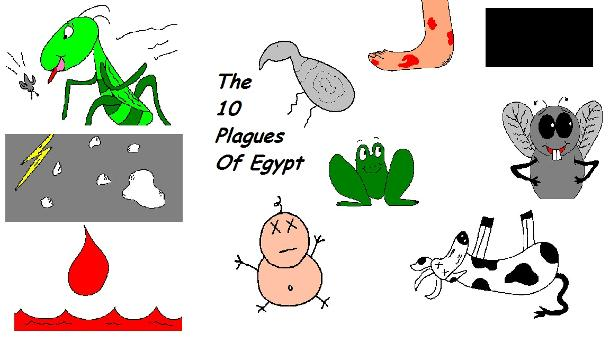 The 10 Plagues of Egypt Clipart Pictures Images
