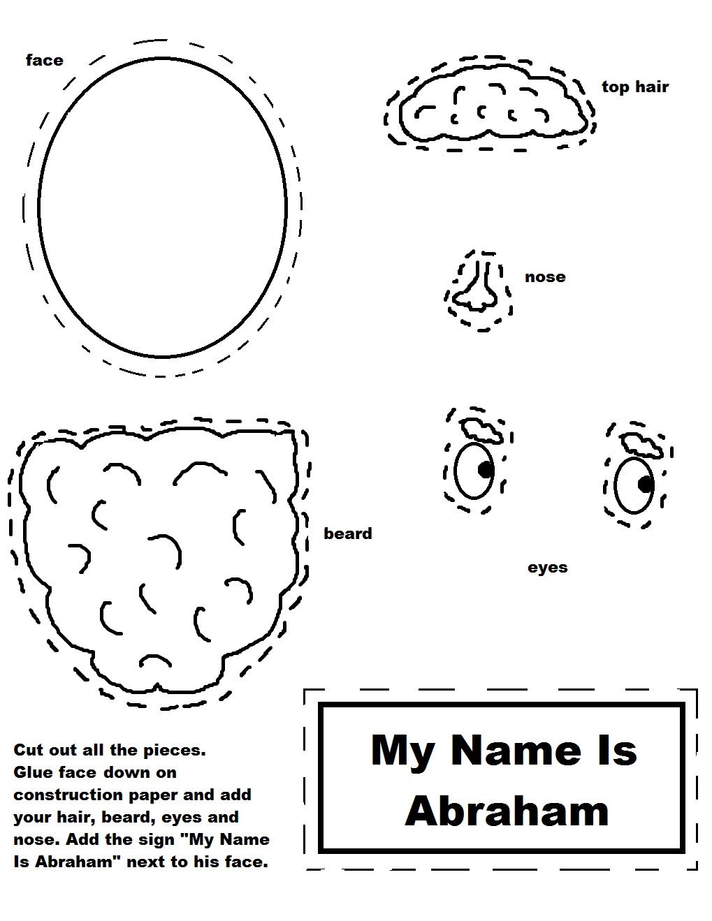 abraham coloring pages sunday school - photo#31