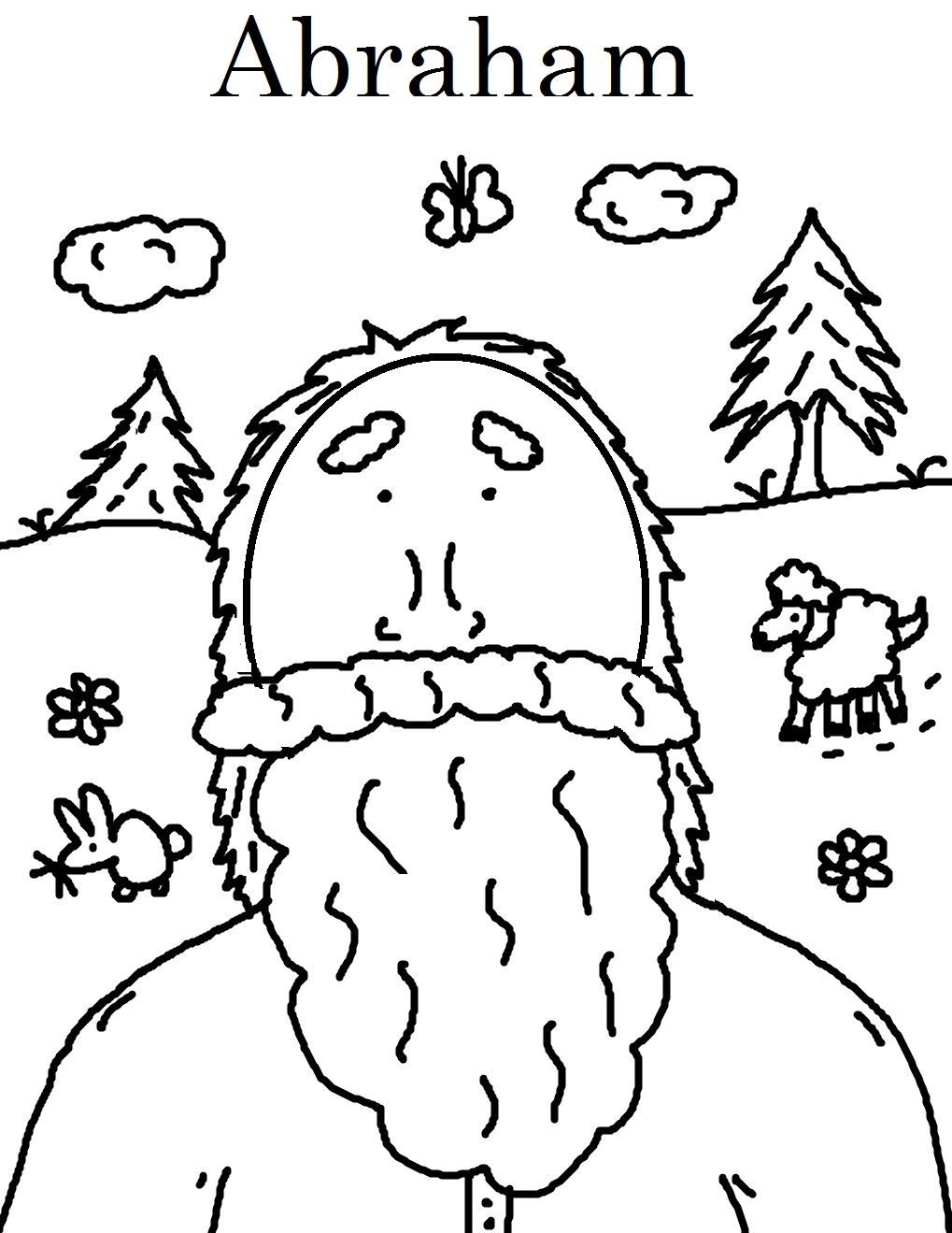 Old Testament Bible Story Coloring Pages - Abraham - 2