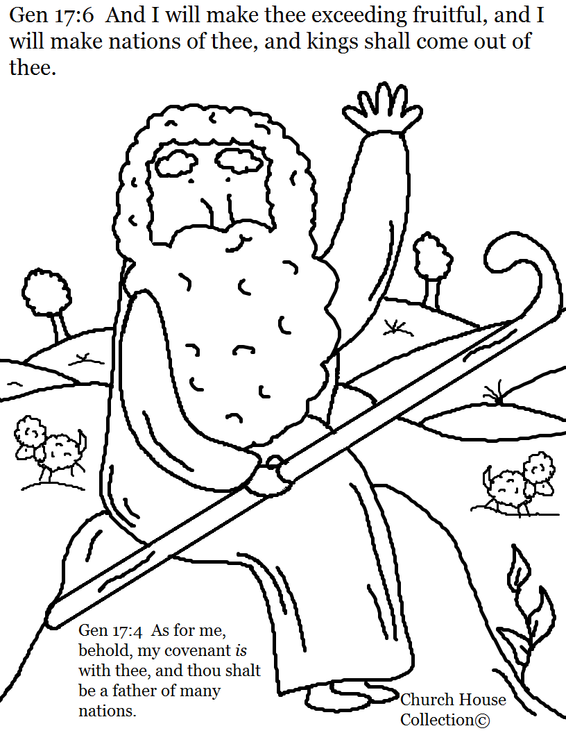 Abraham Coloring Page ...