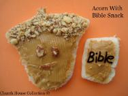 Acorn With Bible Snack For Kids In Sunday School