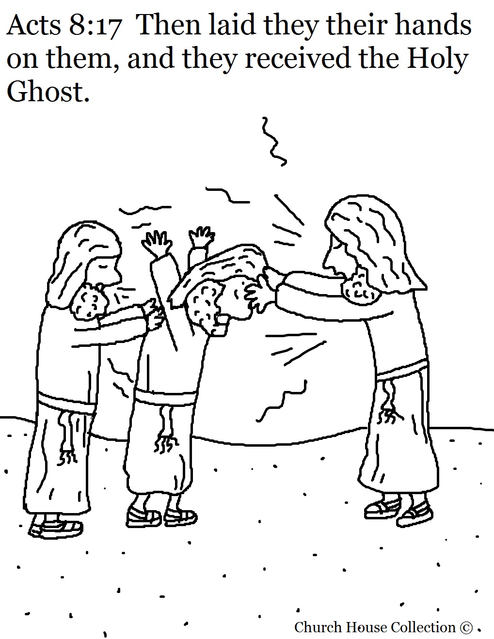 Acts 817 Getting Holy Ghost Coloring Page