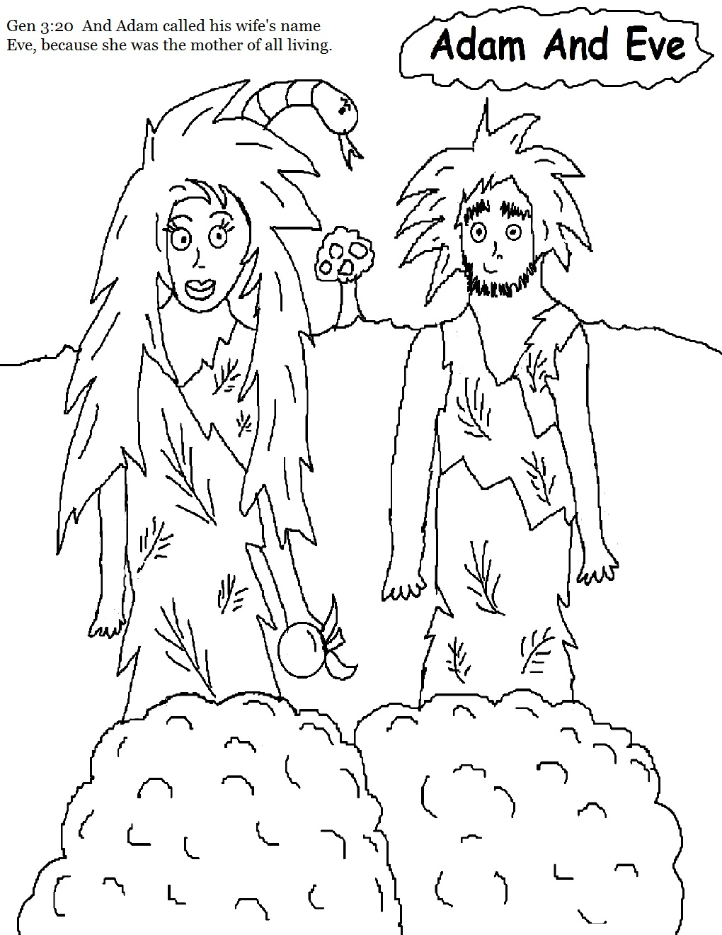 coloring pages adam and eve - photo#9