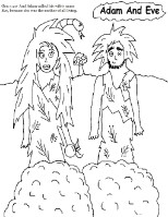 Coloring Page - Adam and Eve Sin - SundaySchoolResources.com