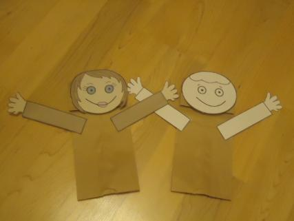 Adam and Eve Paper Lunch Bag Craft