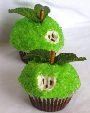 Adam and Eve Apple Cupcakes
