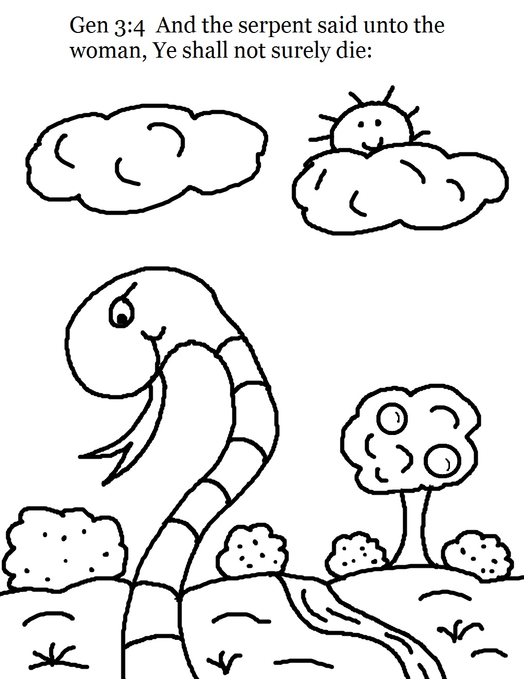 coloring pages adam and eve - photo#33