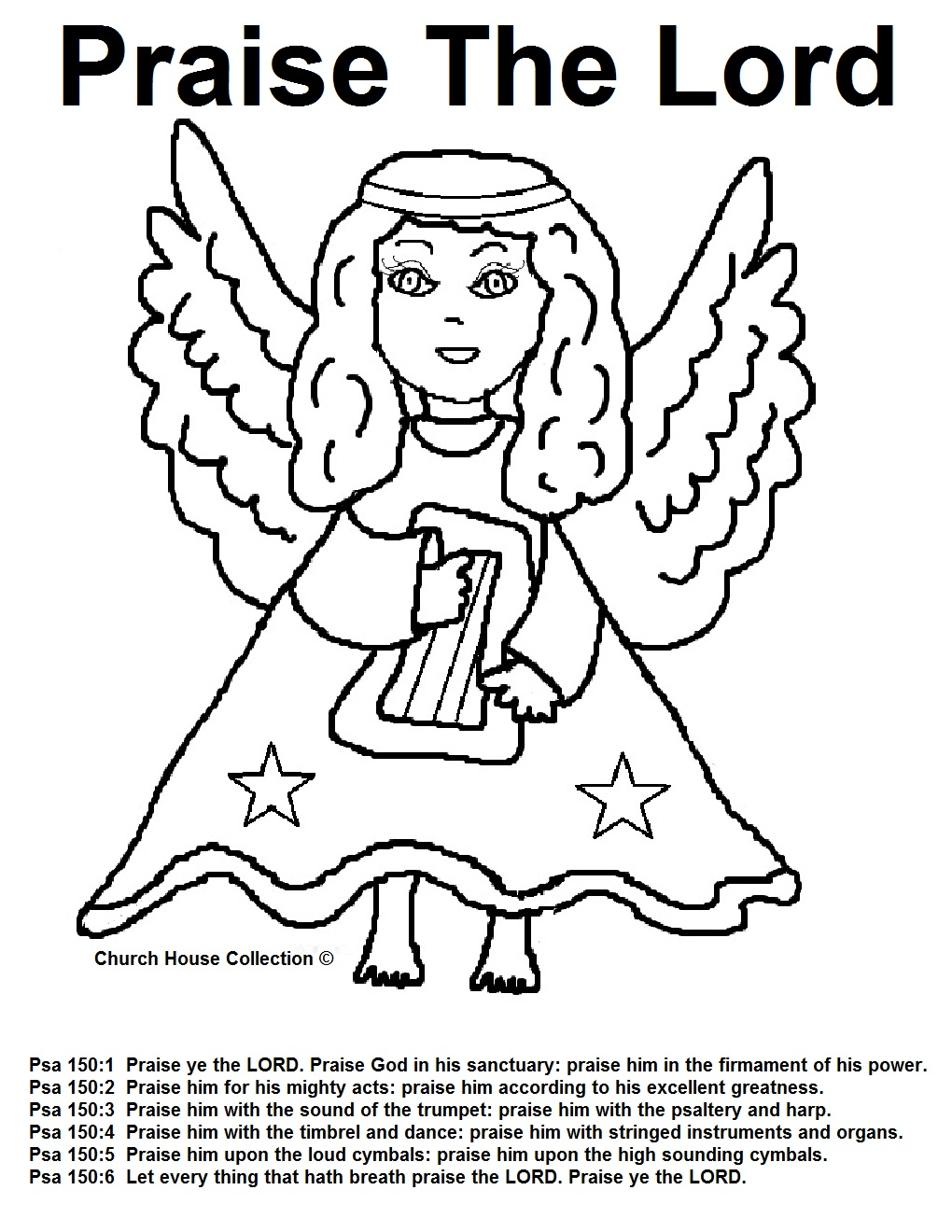 worship the lord coloring pages - photo#7