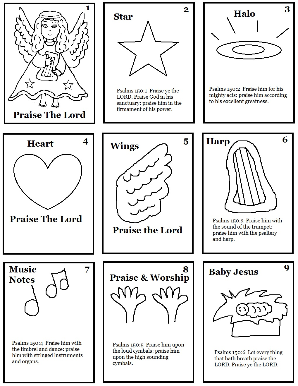 Sunday School Lessons Coloring Pages