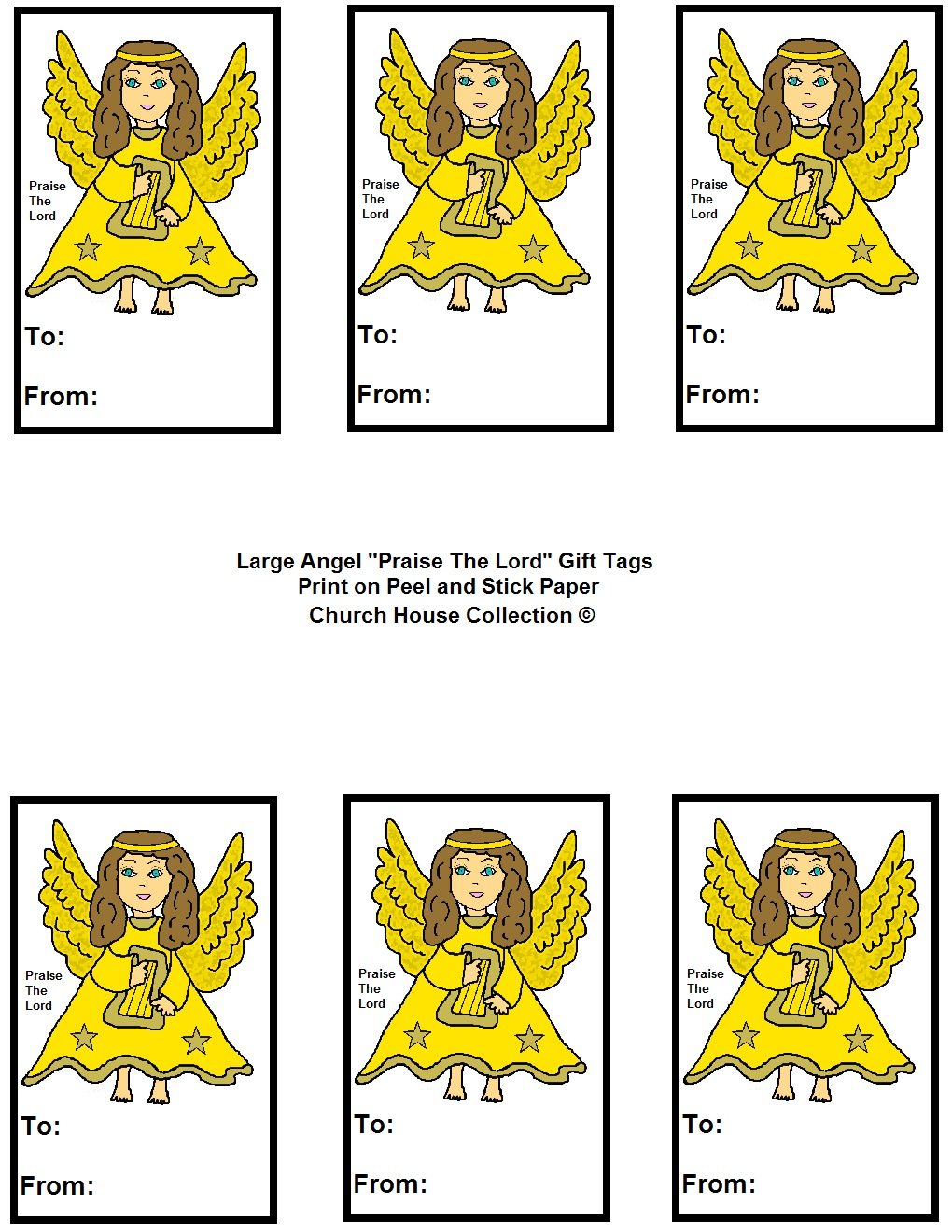 Angel Quot Praise The Lord Quot Sunday School Lesson For Kids
