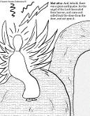 angel rolled the stone away coloring page matthew 28:2 Easter Resurrection coloring pages