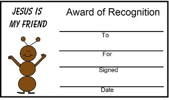 Printable Award Certificates For Church