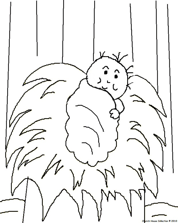 baby jesus coloring pages - the birth of jesus coloring pages