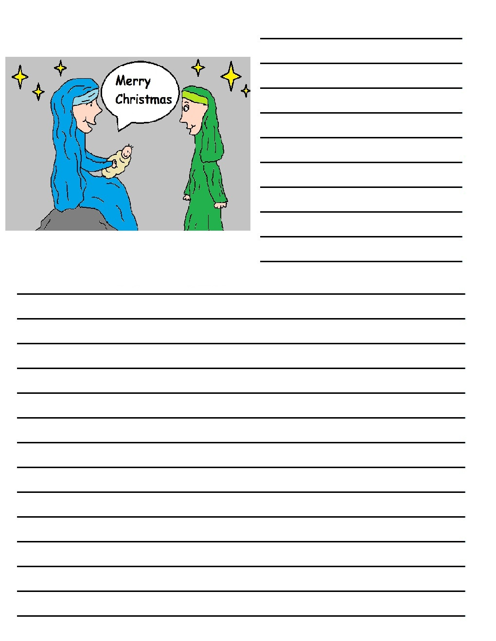 Dltk custom writing paper christmas