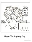Thanksgiving Coloring Page, Turkey Coloring Page, Turkey stole cake coloring page
