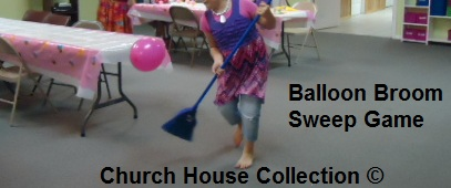 Balloon Broom Sweep Game For Children's Church