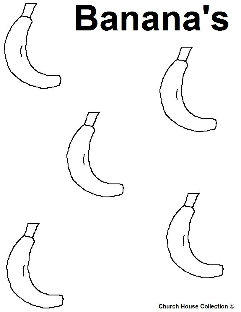 Free Coloring Pages Of B Banana