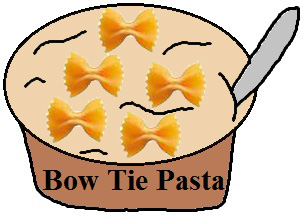 Blest Be That Tie That Binds Bowtie Pasta Snack