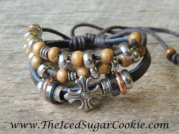 Leather Bracelets by The Iced Sugar Cookie