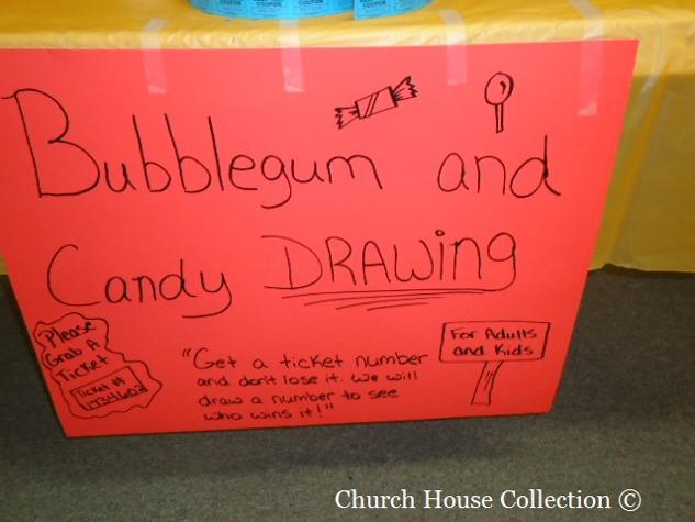 Fall Festival Games for Church Bubblegum and Candy Drawing