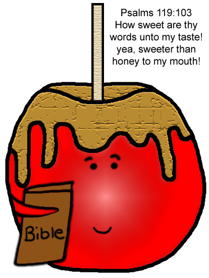 Candy Apple Sunday School Lesson (Candy apple holding bible clipart)