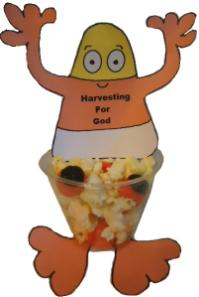 Candy Corn Cup Craft Harvesting For God Snack For Kids