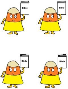 Candy Corn Holding Bible Template