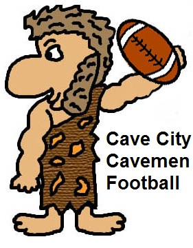 Cave City Cavemen Football Clipart Picture