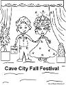 Cave City Fall Festival Coloring Page- Cave City Caveman