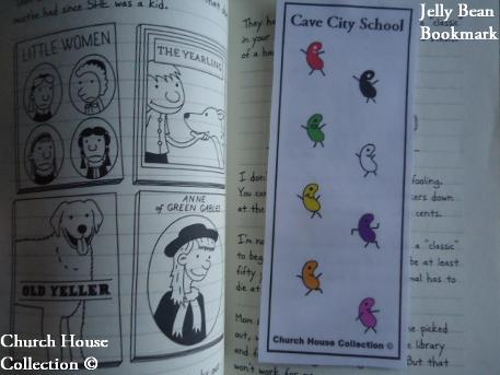 Cave City School Jelly Bean Bookmark Craft for kids