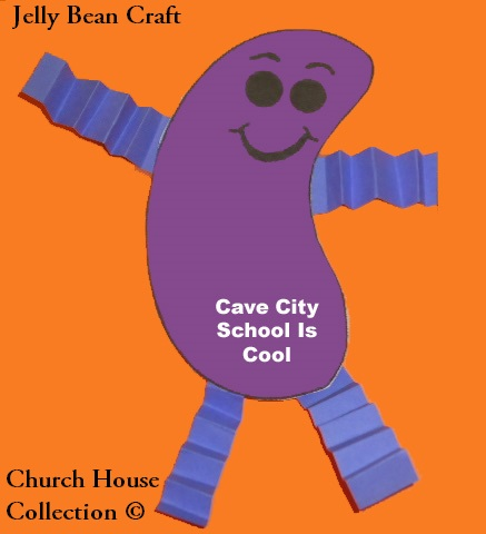 Cave City School Is Cool Jelly Bean Craft for Kids