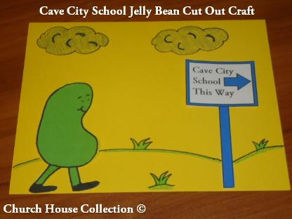 Cave City School This Way Jelly Bean Cut Out