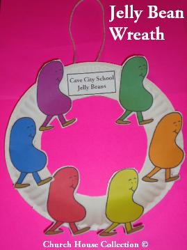 Cave City School Jelly Bean Wreath