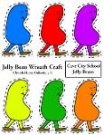 Cave City School Jelly Beans Wreath Craft For Kids