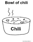 Bowl Of Chili Coloring Page