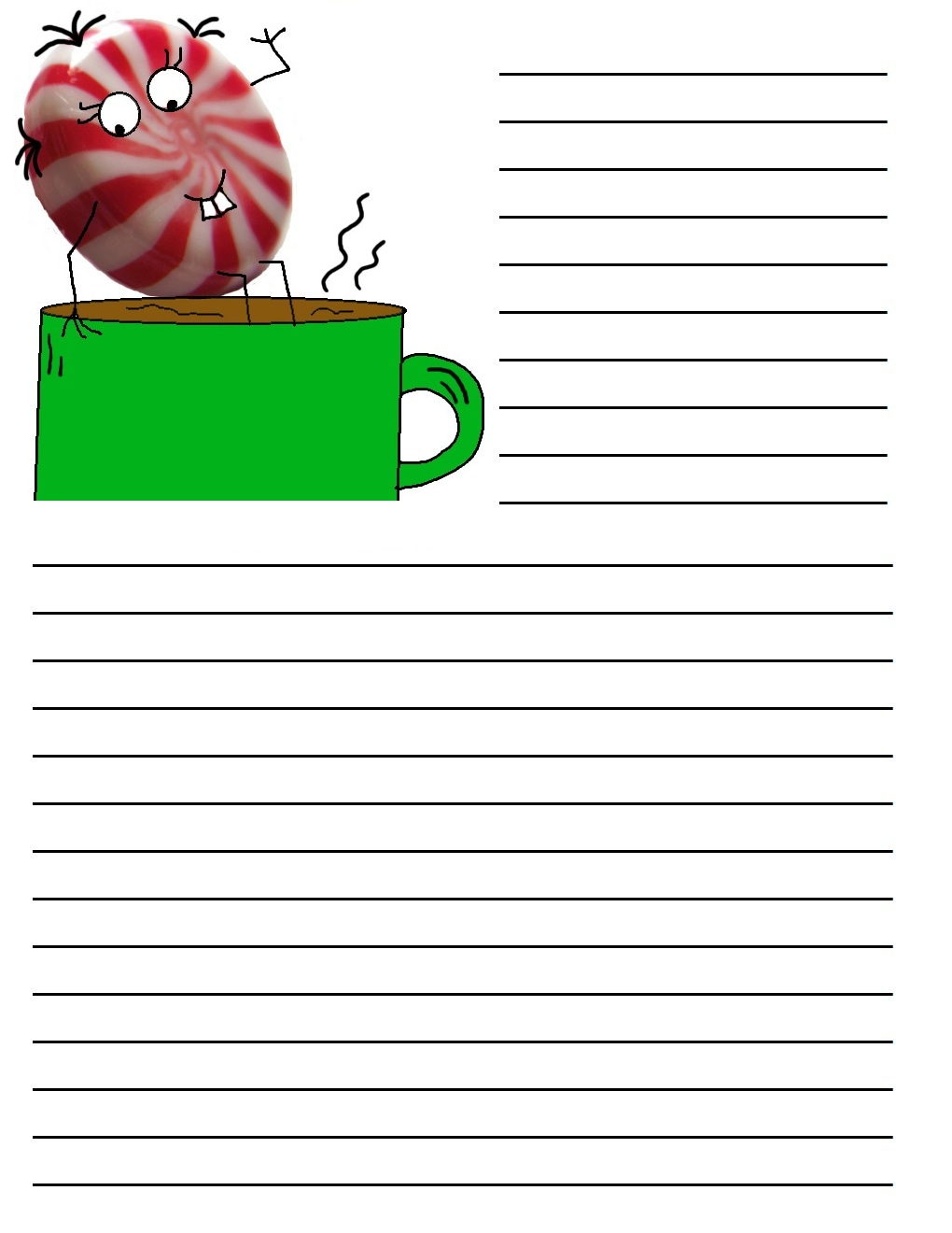 printable christmas writing paper These free printable writing papers with decorative christmas borders will make writing fun for your students.