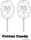 Cotton Candy Coloring Pages- Food Coloring Pages For Kids