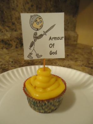 Armor of God Cupcakes
