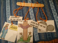 Easter Mobile Craft Jesus Cross Tomb Resurrection