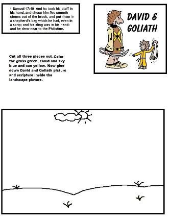 David and Goliath Activity Sheet for Sunday school kids by Church House Collection