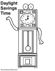 Daylight savings time coloring pages- clock coloring pages