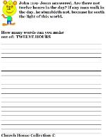 Daylight Savings Time Clock Word in A Word Activity Sheet