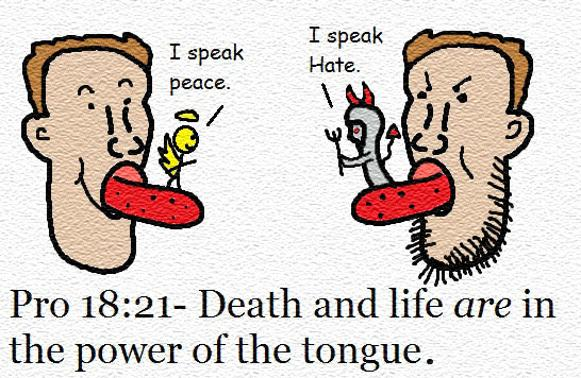 Proverbs 18:21 clipart pictures images