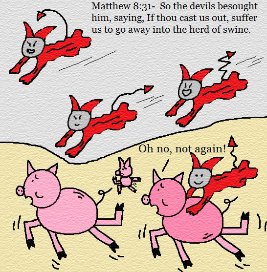Church House Collection Blog: Demons Into Pigs Clipart