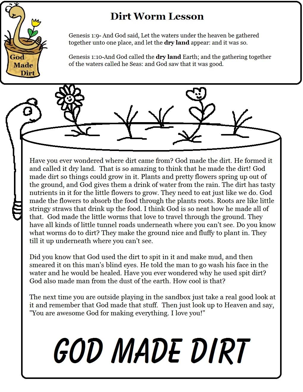 dirt worm lesson