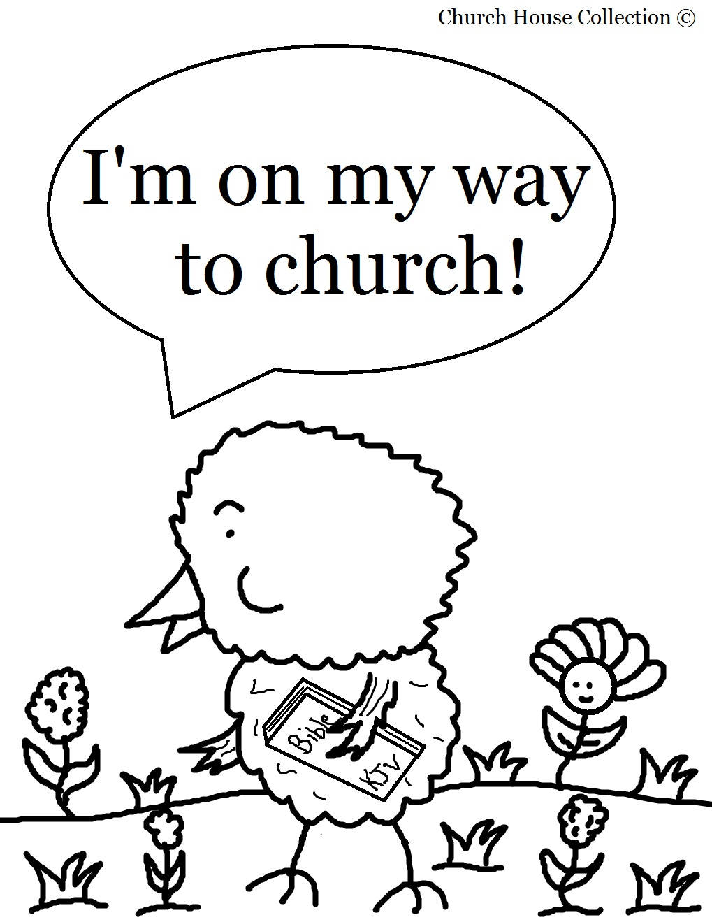 Church House Colouring Pages