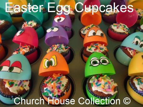 Easter Egg Cupcakes by Church House Collection