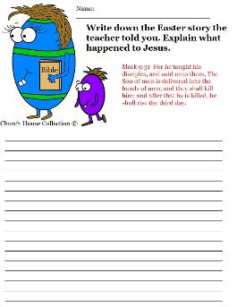 Easter Egg With Bible Activity Sheet for Sunday school Resurrection of Jesus Worksheets