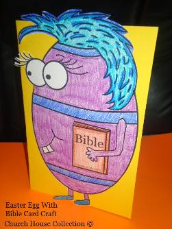Easter Egg With Bible Card Craft For Sunday SChool
